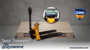 tartılı transpalet, Tartılı Transpalet, KOBASTAR Load Cell & Indicator